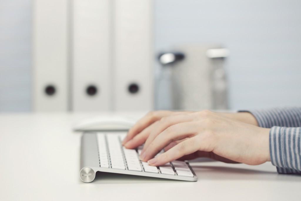 desk, keyboar, typing, hands